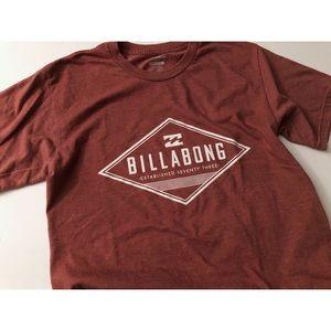Men's Billabong Graphic Tee Burgundy Size S